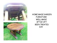 GARDEN BENCH / TABLE