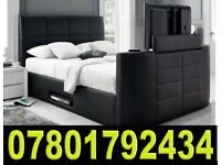 BANK HOLIDAY SALE BED ELECTRIC TV BED WITH STORAGE STILL - WRAPPED