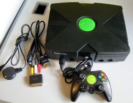 original xbox, 160gb hd, with coinops etc, complete setup