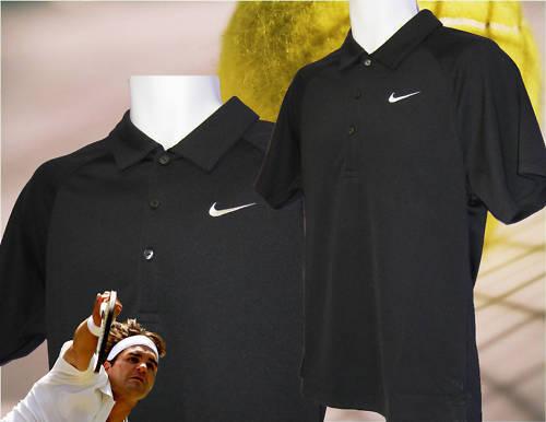 New NIKE TENNIS DriFit Polo Shirt Black S