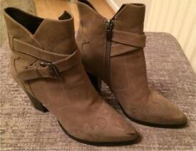 Mint Velvet leather Chelsea boots