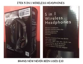 WIRELESS TV AUDIO HEAD PHONES