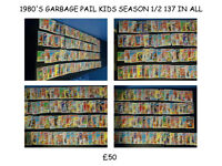 1980'S GARBAGE PAIL KIDS FULL COLLECTION OF SEASON 1 AND 2