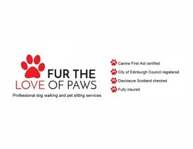 FUR the love of paws dog walking, puppy & cat visiting service in Leith & surrounding areas