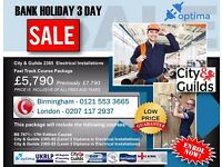 SALE! £2,000 off City & Guilds 2365 Level 2 & 3 Diploma in Electrical Installations Course Package