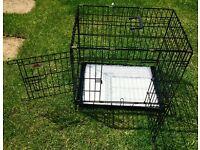 Lazy Bones Medium Dog Crate with Fleece