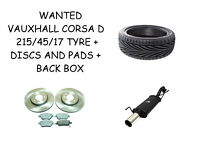 VAUXHALL CORSA D EXHAUST BACK BOX / TYRES / DISCS AND PADS