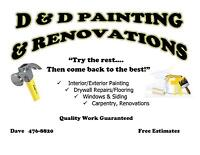 D&D PAINTING & RENOVATIONS