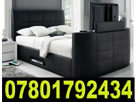 BANK HOLIDAY SALE BED ELECTRIC TV BED WITH STORAGE STILL - WRAPPED 003