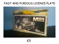 NOVELTY PLATE FAST AND FURIOUS