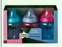 Baby girl feeding bottle pack of 6 from tommee tippee