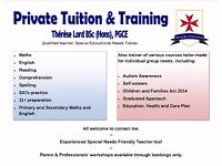 Tutor & trainer with mainstream and SEND training experience. Professional, friendly & effective.