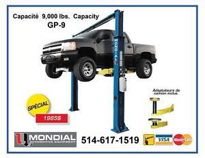 Lift auto 9000 lbs 2 poteaux pour garage Elevateur Lift de garage avec plancher libre - Pont elevateur /Machine a pneu