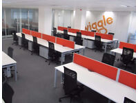 Call Centre Bench Desks,White with Blue Partitions 1200 x 800. (72 in total)