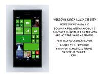 WINDOWS 10 PHONE NOKIA LUMIA 735