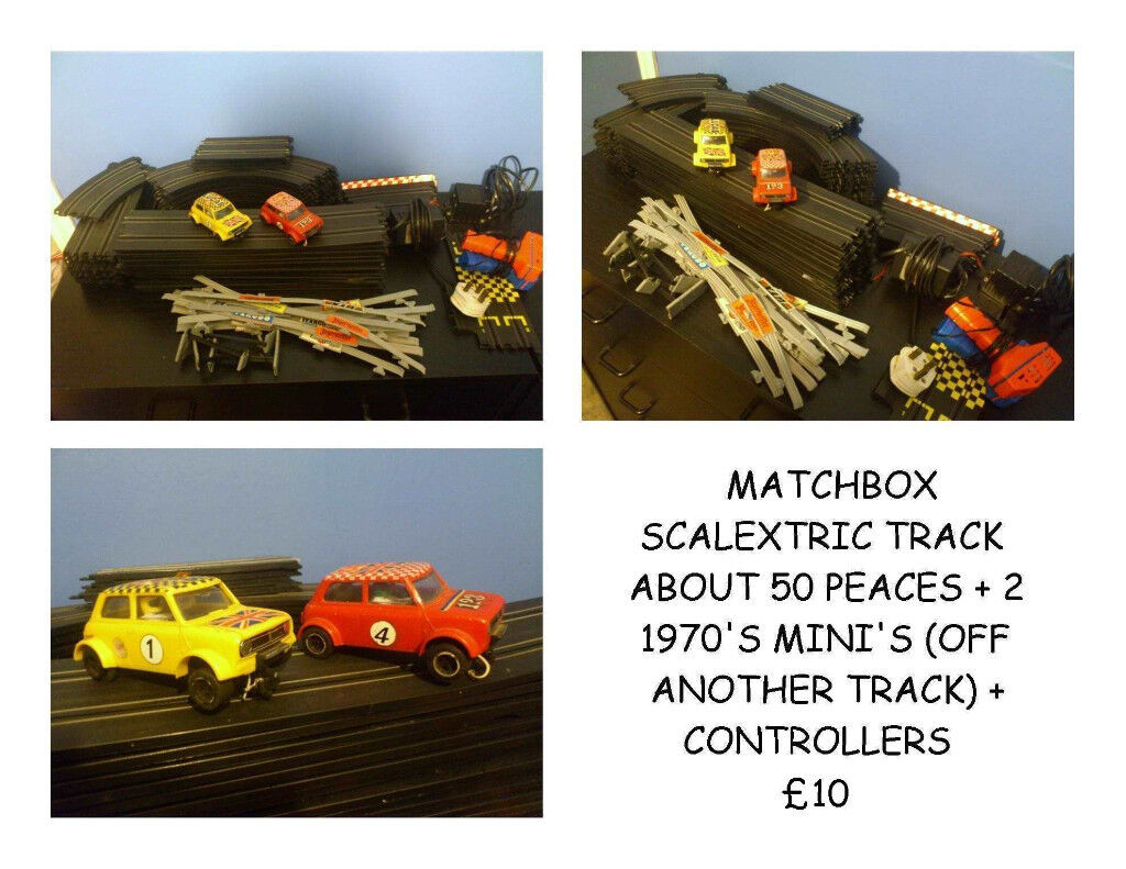 70'S SCALECTRIC CARS AND TRACK (NON WORKING PLUG)