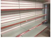 Slatwall and shelves retail