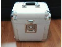 "Large DJ 12"" Silver Vinyl Record Box"