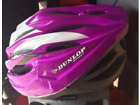 Dunlop Sport Purple and Silver Lightweight Female Size M Cycle Helmet