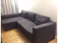 Corner Sofa - large and comfortable (3 years old) - Dark Grey