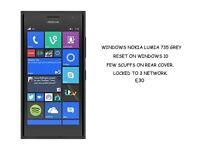 NOKIA LUMIA 735 ON WINDOWS 10