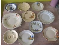 17 vintage plates - all marked on back
