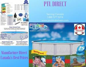 Above Ground  Swimming Pools  - We ship Free to New Brunswick daily - Guaranteed Best Price - Manufacture Direct