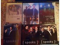 spooks tv series dvd's