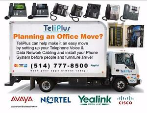 Planning an Office Move? We move Phone Systems !!! CALL  (514) 777-8500 TODAY!!! WE ARE THE TELECOM EXPERTS!!!