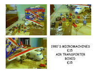 1980'S MICRO MACHINES PLAIN AND CARS