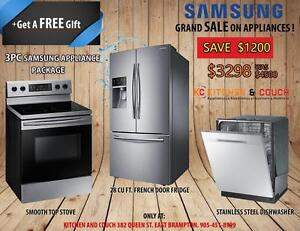 GRAND SALE ON BRAND NEW APPLIANCES || GREAT 3 PC PACKAGE DEALS - FRIDGE, STOVE & DISHWASHER (AD 403)