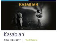 Kasabian Seating Ticket @ O2