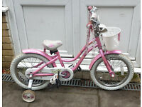 Pink Trek Mystic 16 girl's bike, with 16in wheels. Serviced by London Bike Hub, 3-month warranty