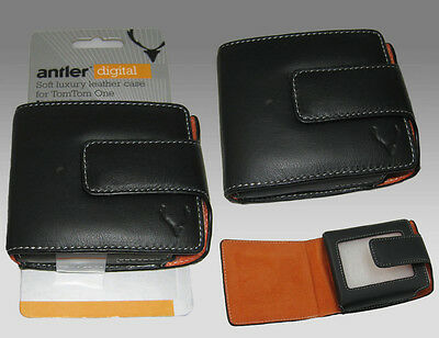 ANTLER TomTom One Soft Luxury Leather Case Black