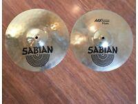 """Wokingham Drum Sales - Sabian AAX 13"""" Stage Hi Hat Cymbals"""