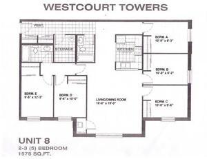 1 MONTH FREE! UNIVERSITY of WATERLOO 4 & 5 BEDROOM APARTMENTS Kitchener / Waterloo Kitchener Area image 10