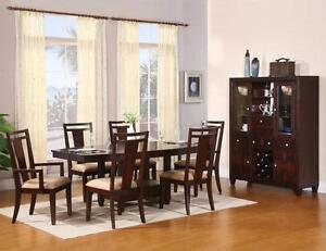 SOLID WOOD DINNING TABLE AND 6 CHAIRS FOR 899$