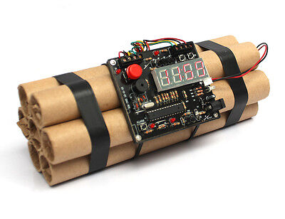 Defuse a Bomb Alarm Clock - Novelty Dynamite Styled Digital Clock