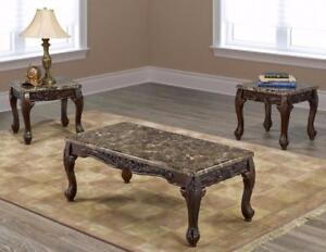 TRADITIONAL STYLE COFFEE TABLE SET VAUGHAN-ONLINE SALE VAUGHAN - VISIT WWW.KITCHENANDCOUCH.COM (BF-37)