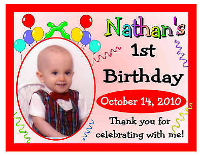 15 FIRST 1ST BIRTHDAY PARTY FAVORS PHOTO MAGNETS