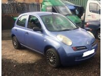 NISSAN MIRCA,2003, 1.0 PETROL, BREAKING FOR SPARES