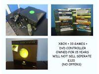 ORIGINAL XBOX + 33 GAMES