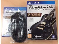 PS4 Rocksmith 2014 With Real Tone Cable. ***Brand New***