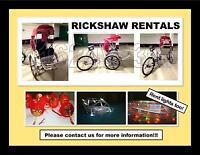 RICKSHAW RENTALS  FOR ENTERTAINMENT OR SPECIAL EVENT