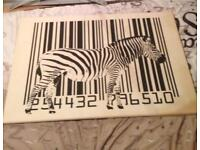 Zebra canvass