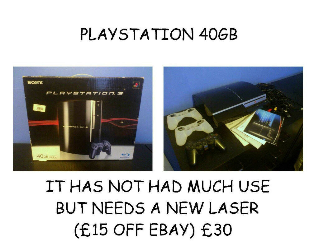 PS3 (NEEDS BLURAY DRIVE)
