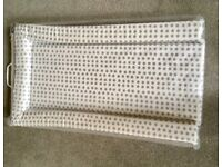 Mothercare grey stars changing mat, used twice at grandparents