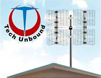 Digital OTA HD TV Antenna Installations. Get FREE legal HDTV.