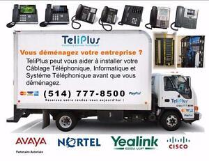 Vous déménagez ou l'expansion de votre bureau? Nous déplacer votre Systèmes Téléphoniques et installer tous les câbles.