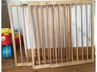 Two Extendable Wooden Wall Mounted Lindam Stair Gates